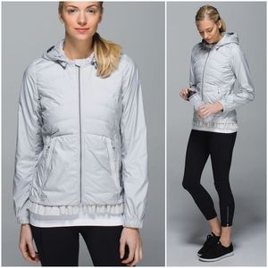 RARE Lululemon Spring Fling Puffy Jacket Silver